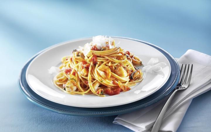 spaghetti con frutti di mare bofrost rezepte