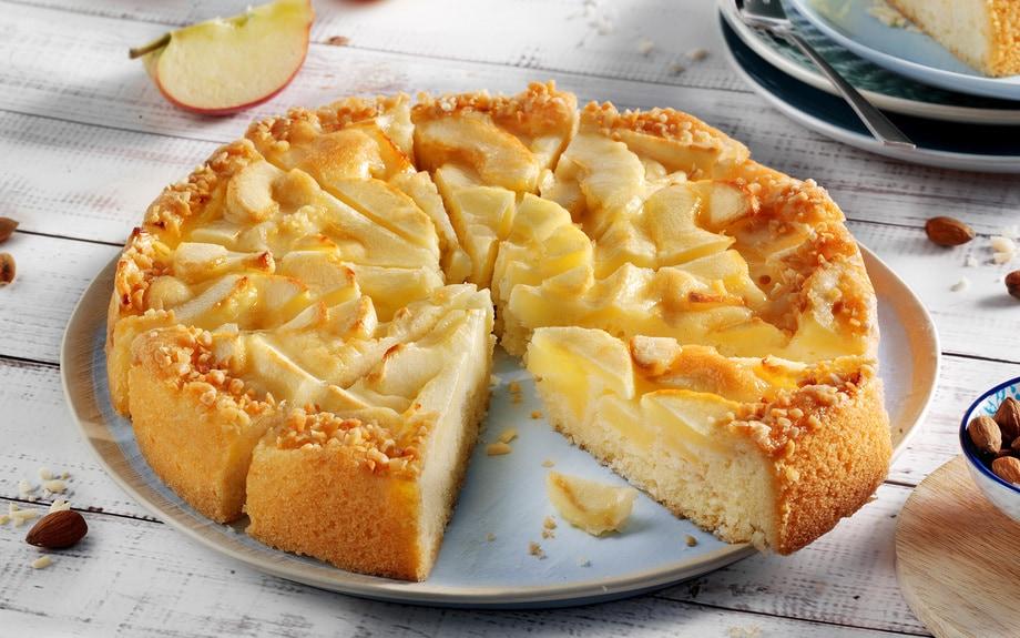 Apfelkuchen - ohne Gluten und Laktose