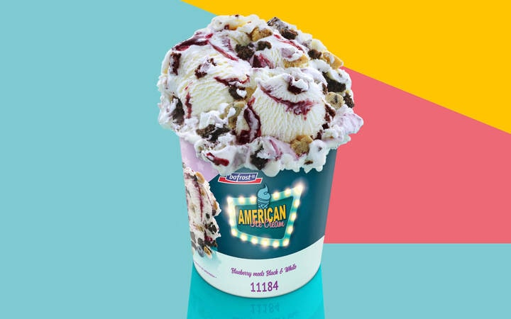 AMERICAN Ice Cream Blueberry meets Black & White (Artikelnummer 11184)